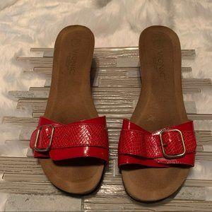 Vionic Red Open Toe Sandals